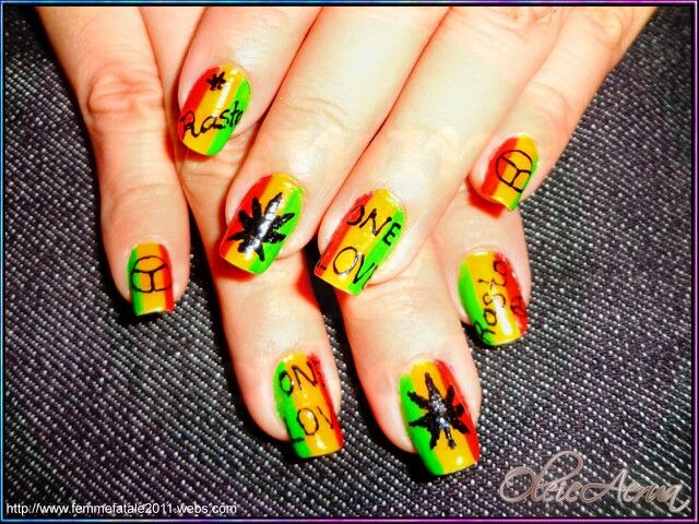 Rasta nail art - Rasta Nail Art Nail Art In 2018 Pinterest Nails, Nail Art And
