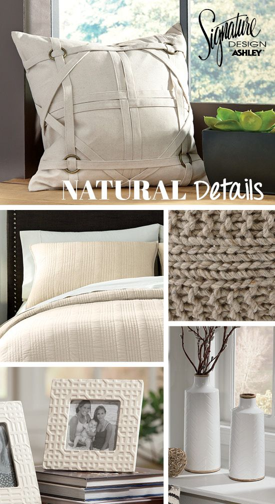 Leonard Pillow Natural Details White Tan and Khaki Accessories