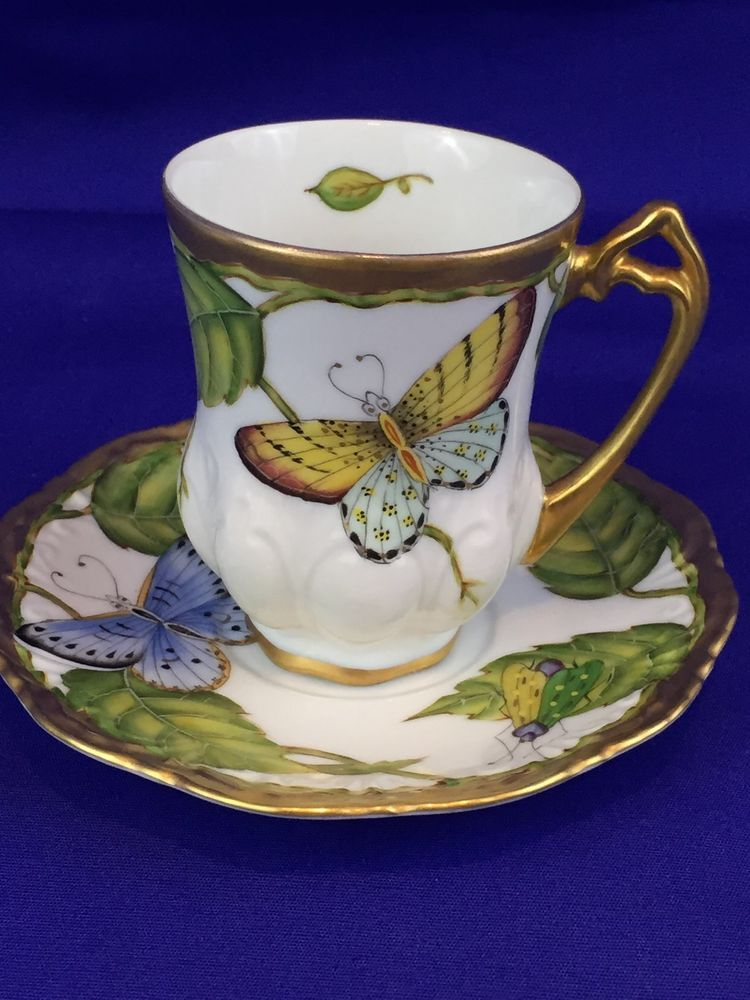Anna Weatherley Summer Morning Demi Cup & Saucer Porcelain Hand Painted Hungary