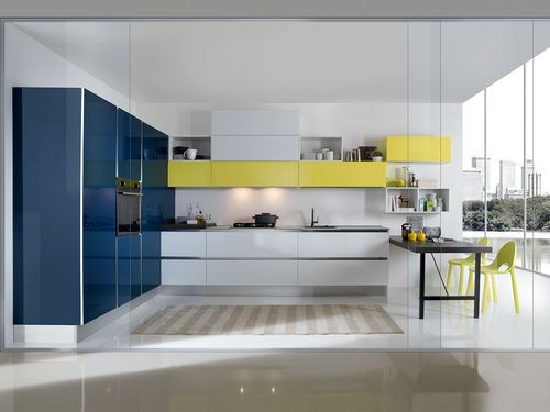 Cucina moderna / in vetro / in alluminio / in laminato BIJOU Aran ...