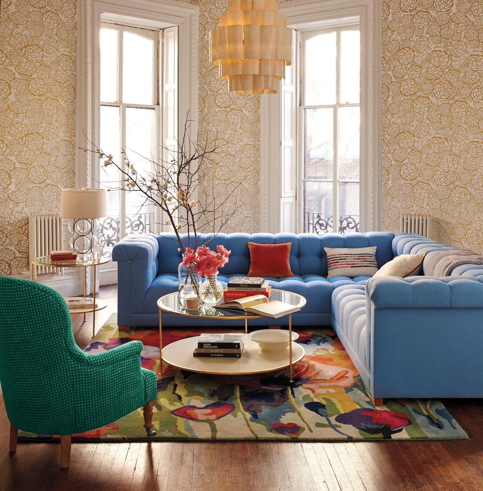 Linen kettleby sofa lovely living rooms living room home decor living room decor for Anthropologie living room ideas