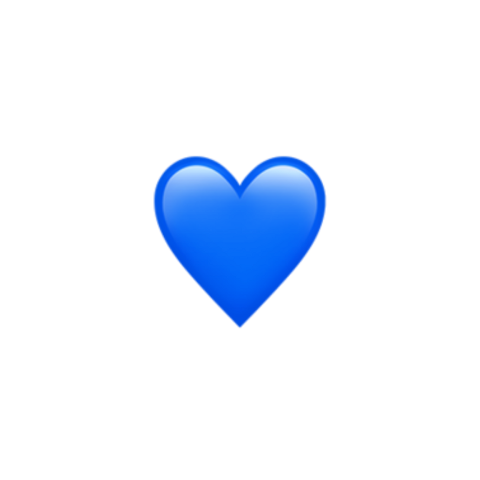 Discover Trending Love Stickers Blue Heart Emoji Blue Emoji Emoji Wallpaper Iphone