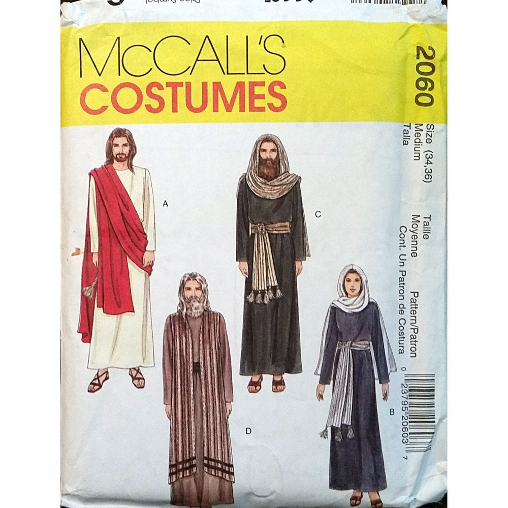Passion play easter religious costumes mccalls 2060 pattern 1999 passion play easter religious costumes mccalls 2060 pattern 1999 size med c1395 mccalls jeuxipadfo Images