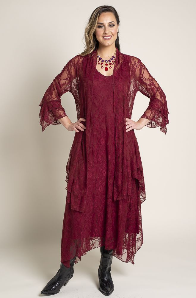 3874e4bcfbed Formal Western Wear Burgundy Jacket and Dress (2 weeks to ship) Outfit BR  112818