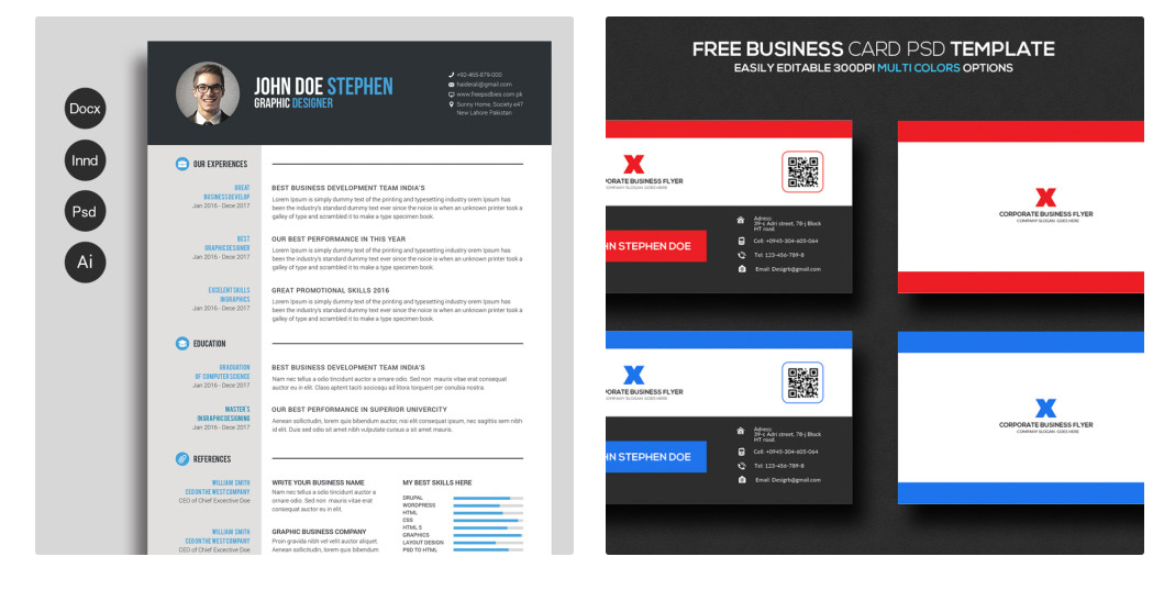 Best Resume Templates Free 40 Best Free Resume Templates 2017 Psd Ai Doc  Free Printable