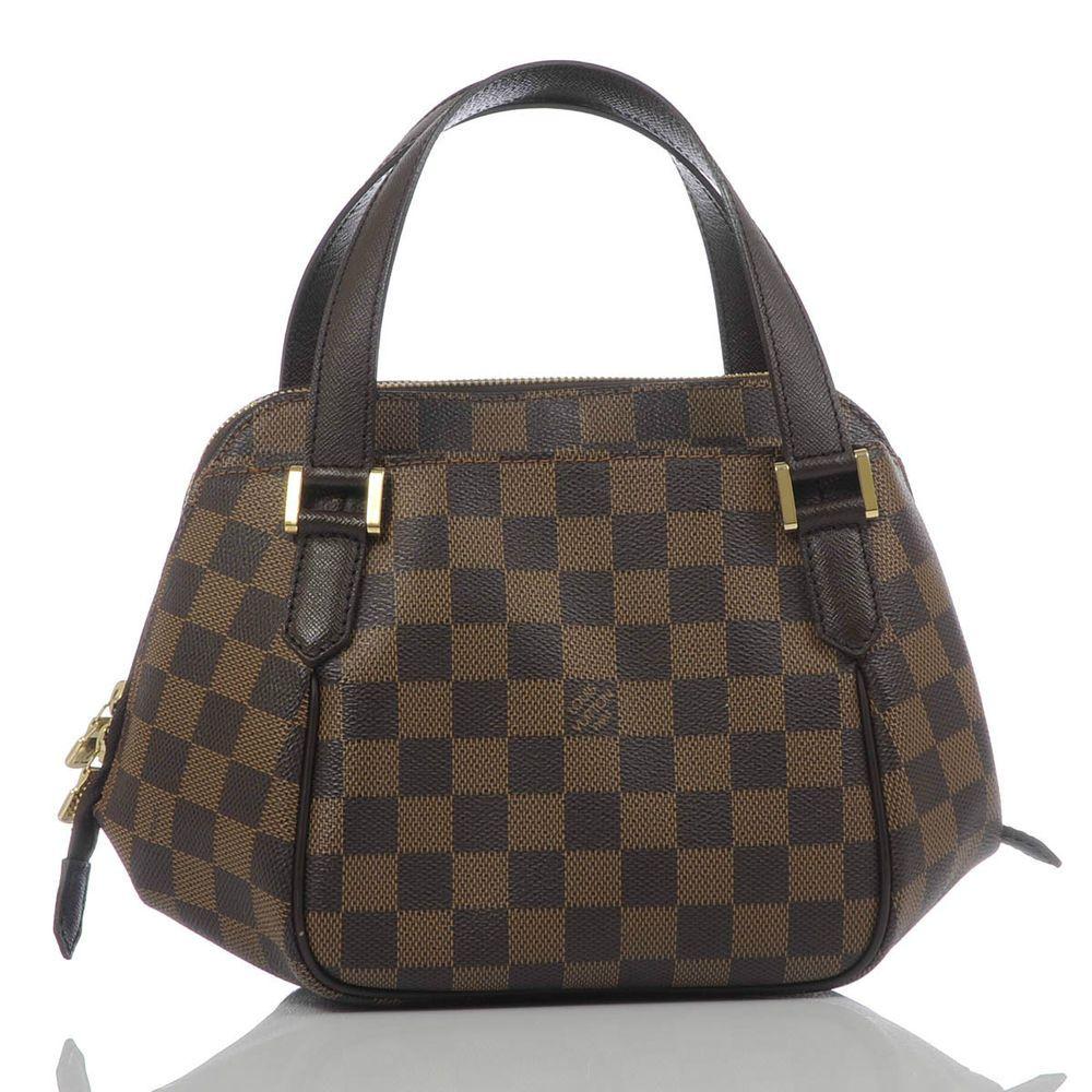 Authentic Louis Vuitton Damier Ebene Canvas Belem Pm Louisvuitton Handbag