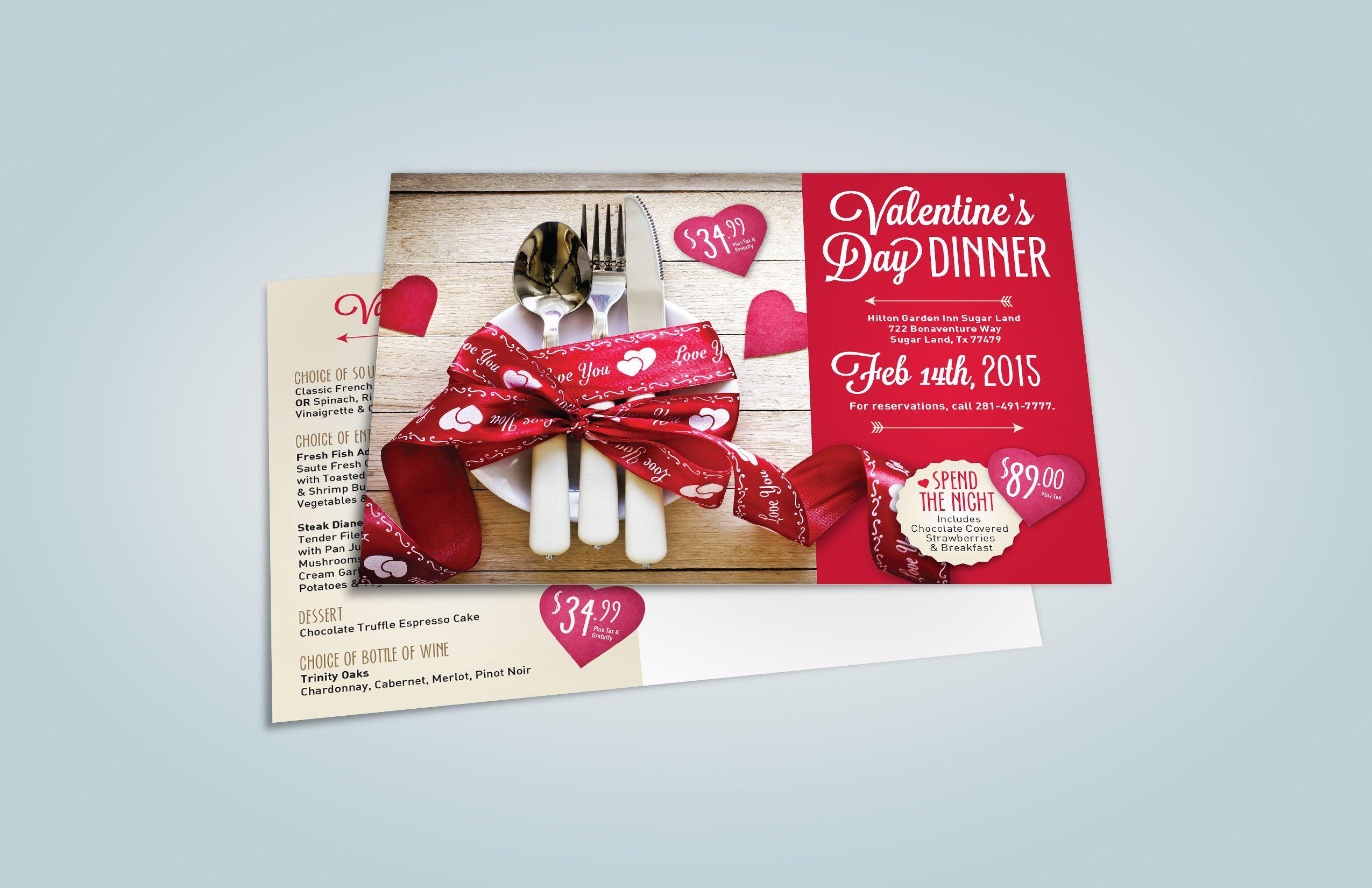 Hilton Garden Inn Valentine Postcard Designed & Printed by AlphaGraphics Sugar Land