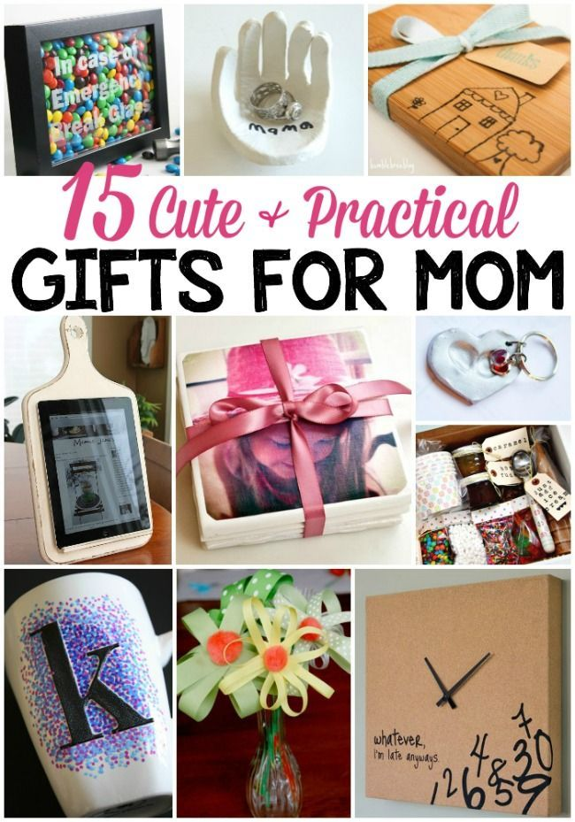 15 Cute & Practical DIY Gifts for Mom | Practical gifts, Gift and ...