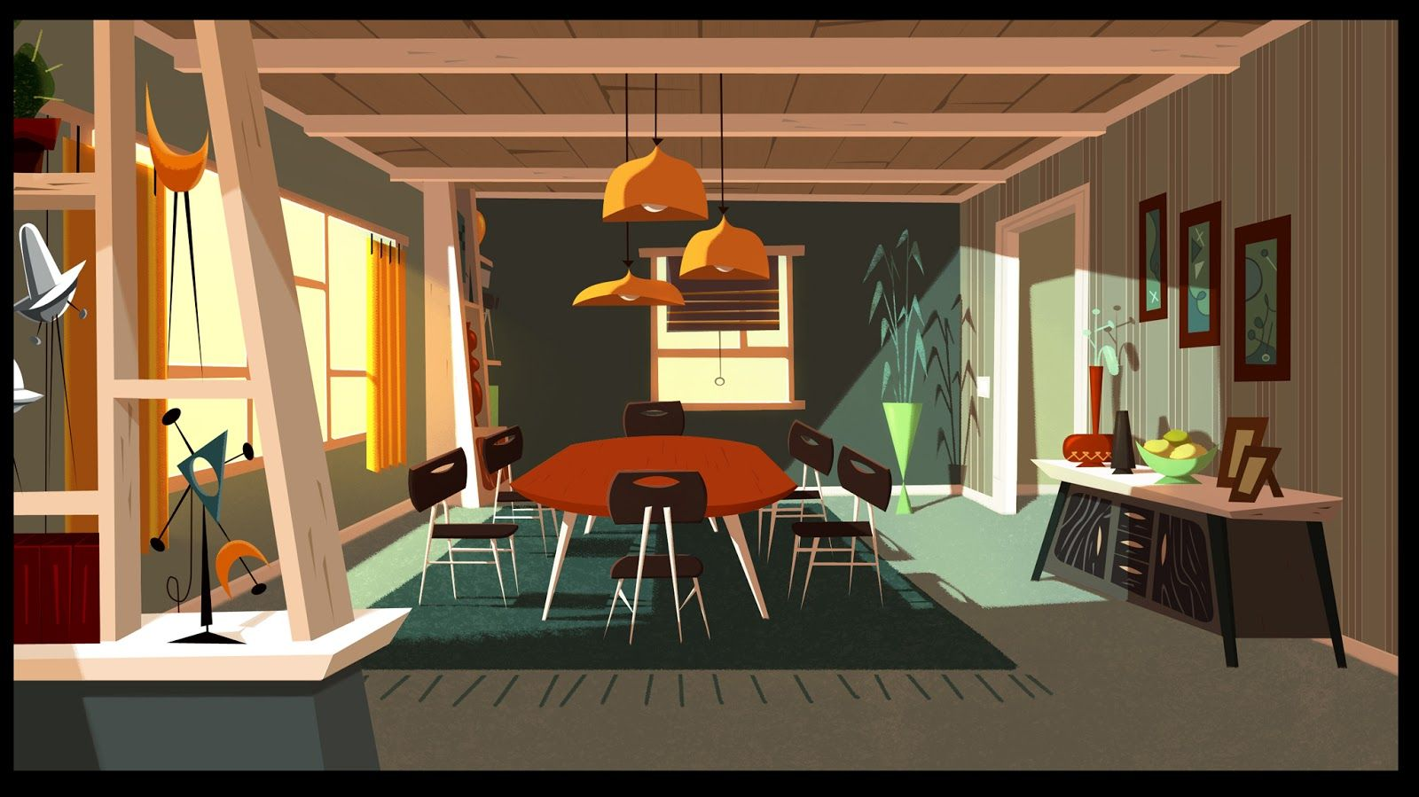 JAMIES GOT TENTACLES Background Painting Gael BECU Design Thomas GREFFARD