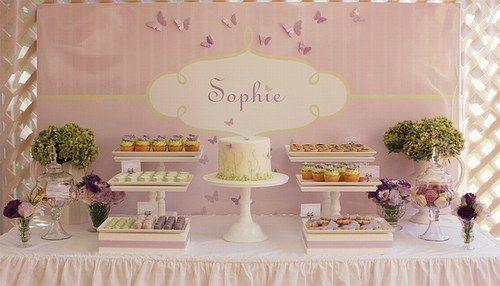 decoraci n bicolor en rosa y blanco decoraci n para un baby shower