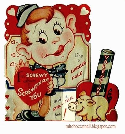 14 Unintentionally Dirty Vintage Valentines Day Cards  Cards