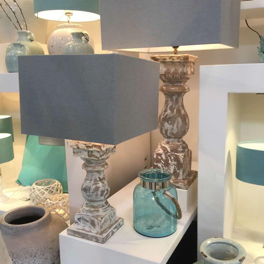 Coastal lamp and shade white washed chunky lamp base with fresh coastal lamp and shade white washed chunky lamp base with fresh square lamp shade aloadofball Choice Image
