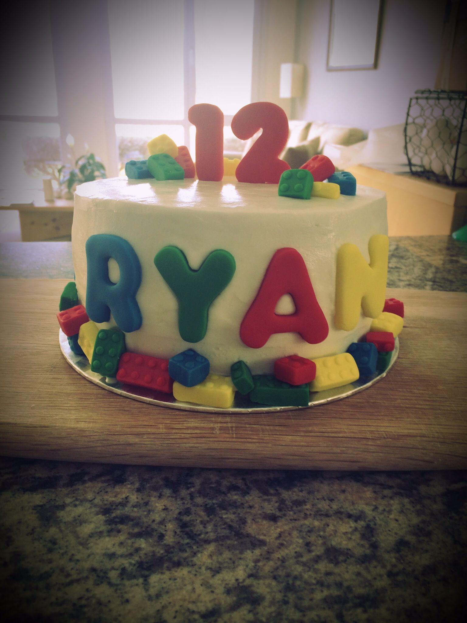 Lego Cake For A 12 Year Old Boy Vanilla Madeira With Chocolate Buttercream Boy Birthday Cake Birthday Cake 12 Year Old Boy
