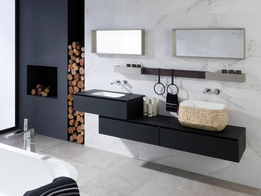 Muebles modulares soft negro ghost roble noche for Haunted bathroom ideas