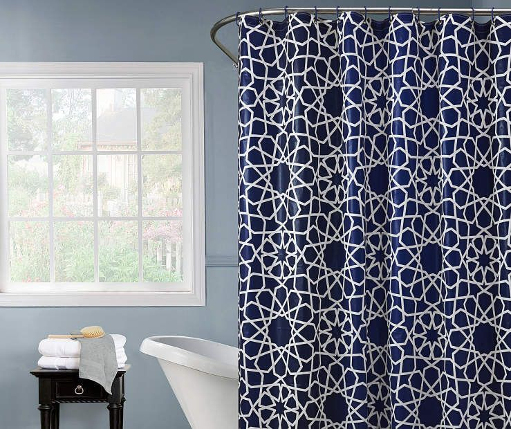 I Found A Dorean Navy White Constellation Shower Curtain Hooks Set At Big Lots For Less Find More Curtains Decor Biglots