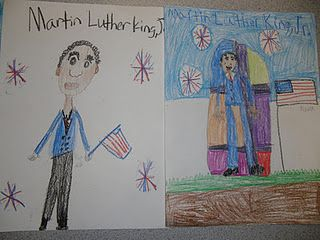 Martin Luther King directed drawings