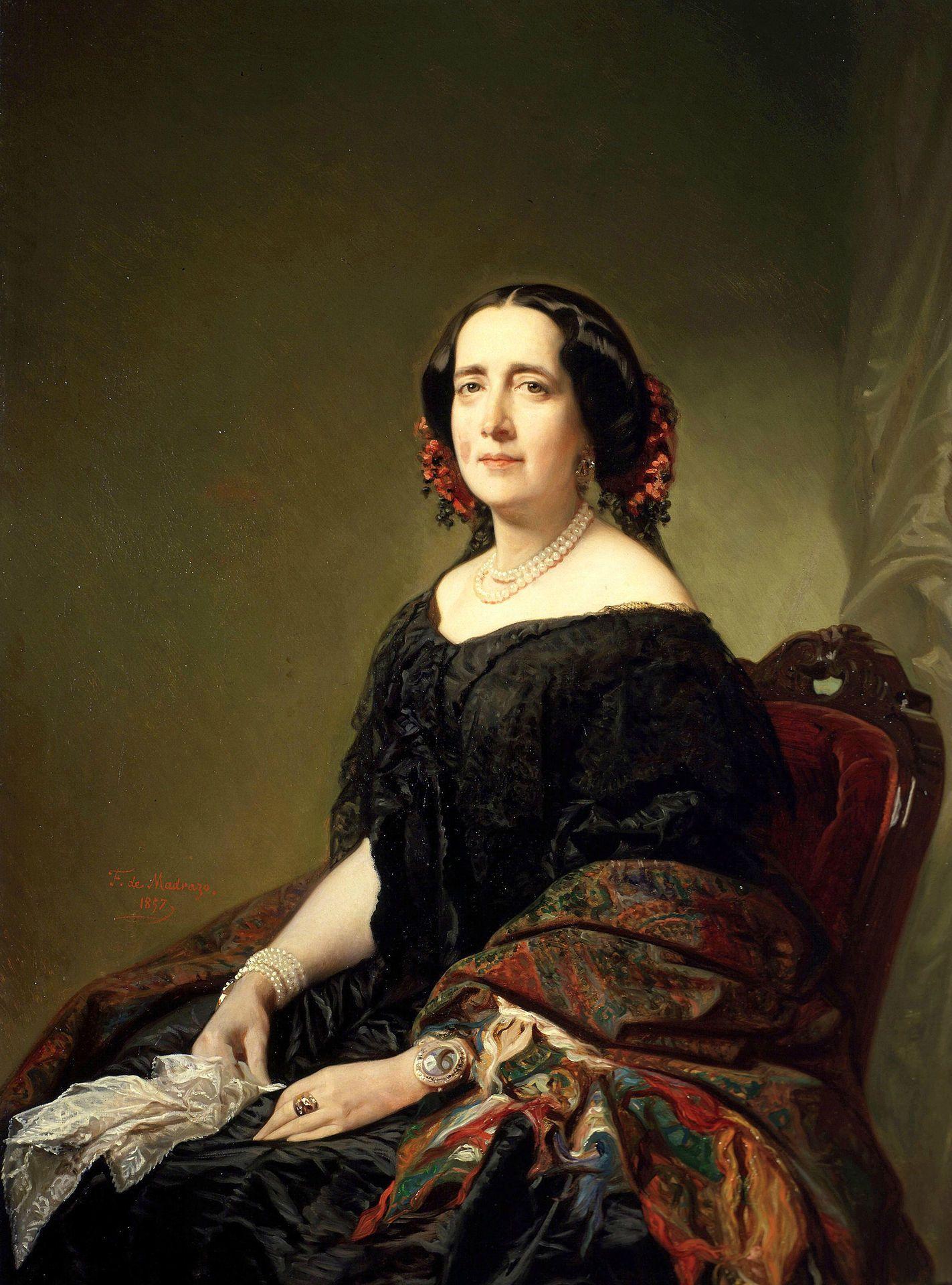 Gertrudis Gómez de Avellaneda, por Federico de Madrazo