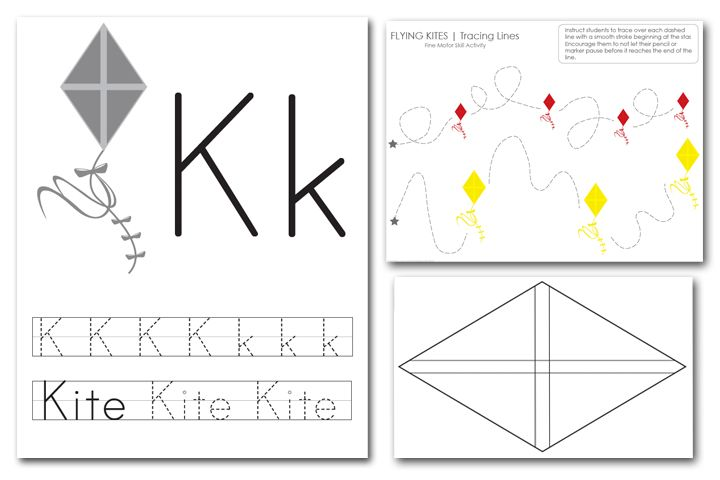 K Is For Kite Template And Download! #prek #ece