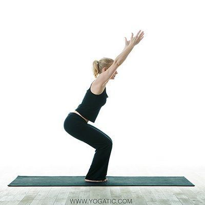 yoga  chair pose yogainfo  basic yoga poses yoga