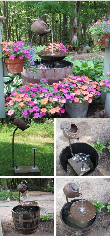 15+ Stunning DIY Garden Fountain Landscaping Ideas and ...