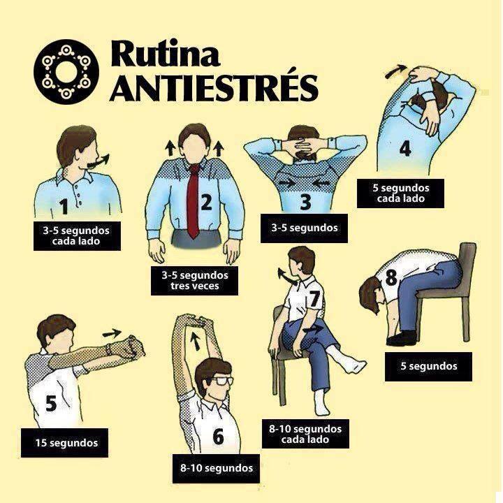 Rutina antiestress se recomiendan este tipo de pausas for Ejercicios en la oficina