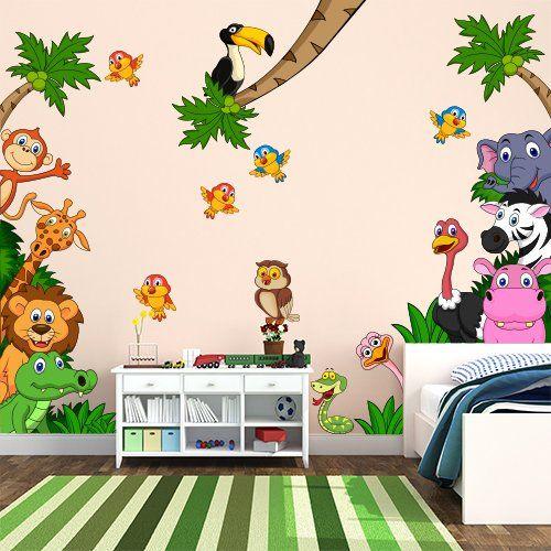 Ll➤decorazioni murali per bambini su maisons du monde ✓ consegna gratuita in tutti i negozi & resi gratuiti per 14 giorni. Adesivo Murale Per Bambini Wall Art Cameretta Safari Decorazione Parete Adesivi Per Muro Carta Da Parat Adesivi Murali Arte Per Camere Per Bambini Murale