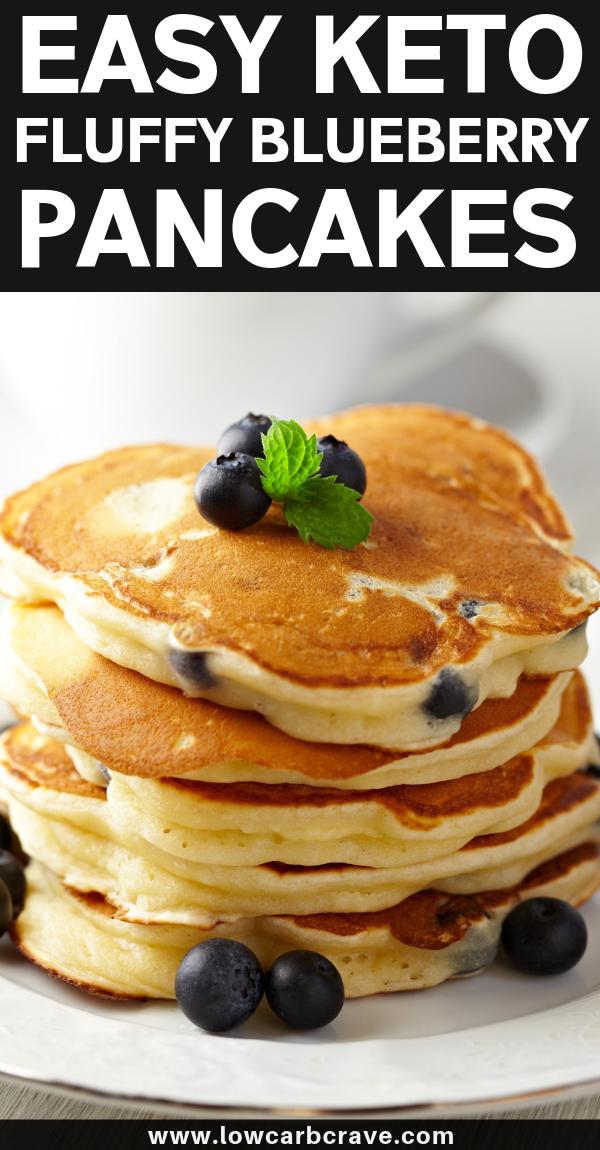 Fluffiest Homemade Keto Blueberry Pancakes