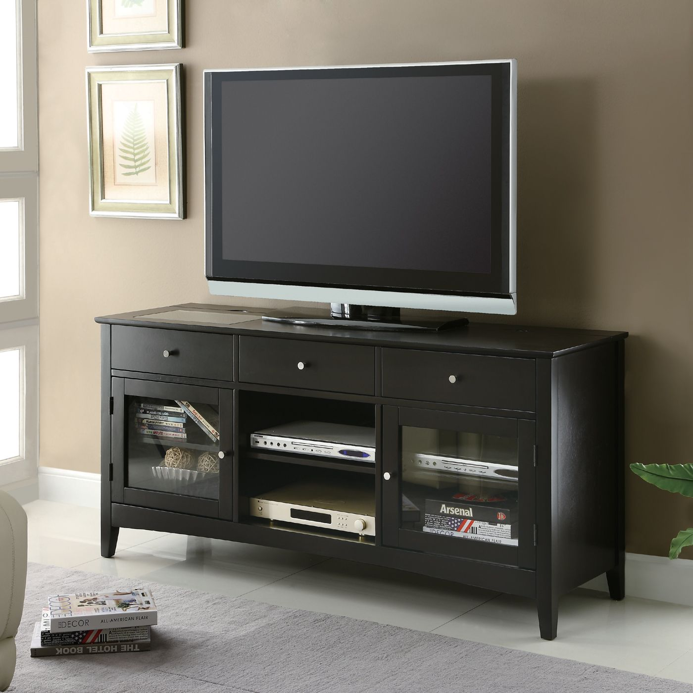 Shop Coaster Fine Furniture 700694 Connect-It TV Stand At