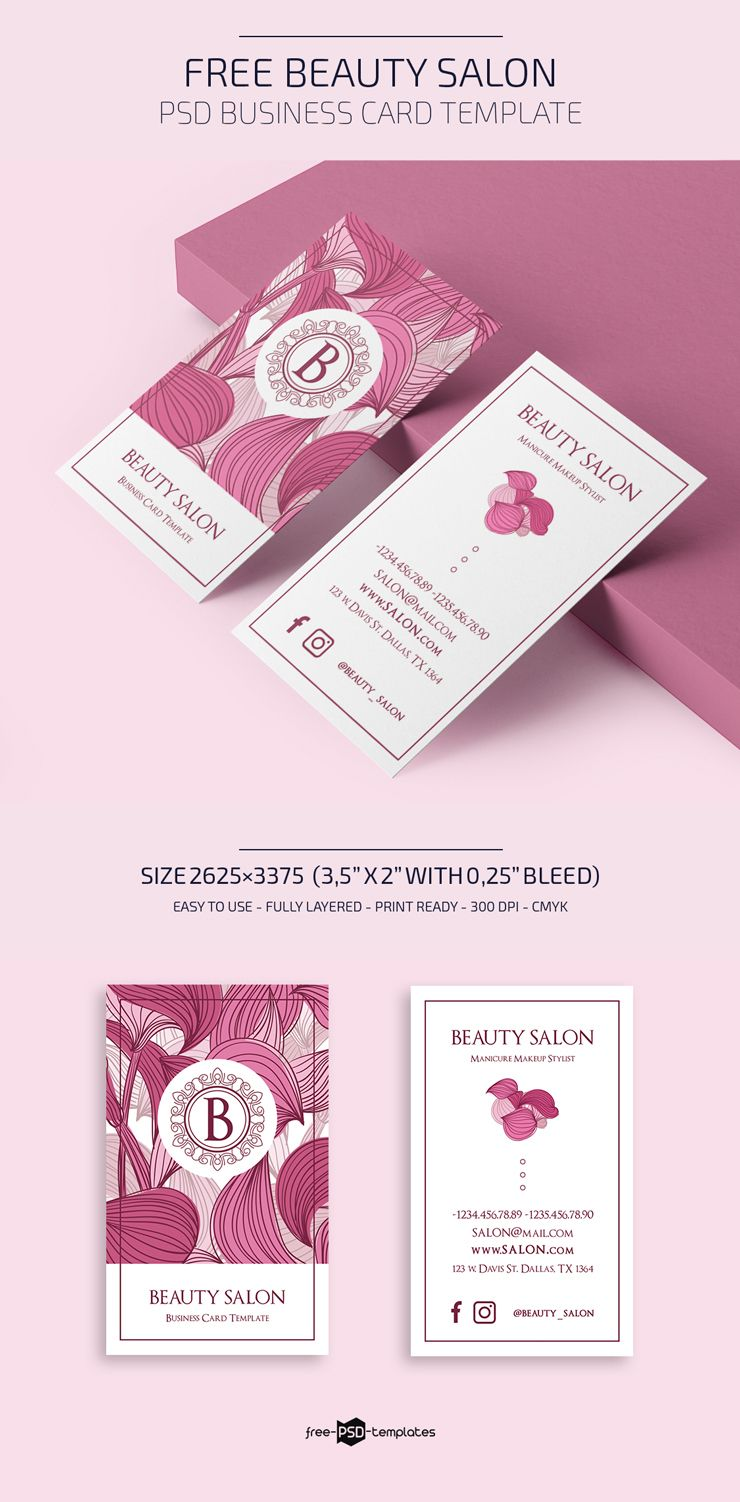 Free Beauty Salon Business Card Template Free Psd Templates Inside Hairdresser Bu Beauty Salon Business Cards Salon Business Cards Hairdresser Business Cards