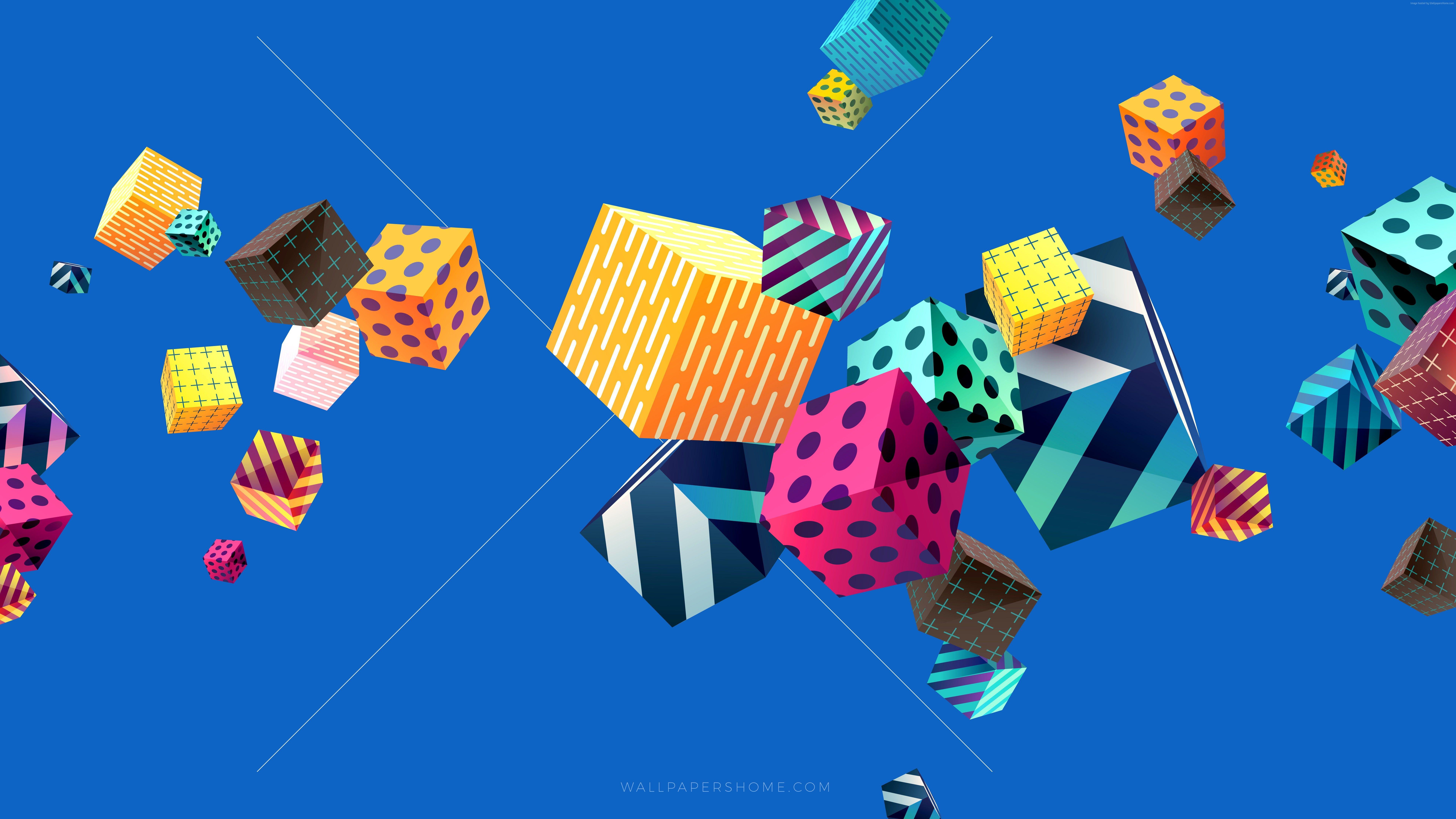 4k Modern 5k Colorful Cubes Abstract 8k 8k Wallpaper Hdwallpaper Desktop Abstract 8k Wallpaper Abstract Wallpaper