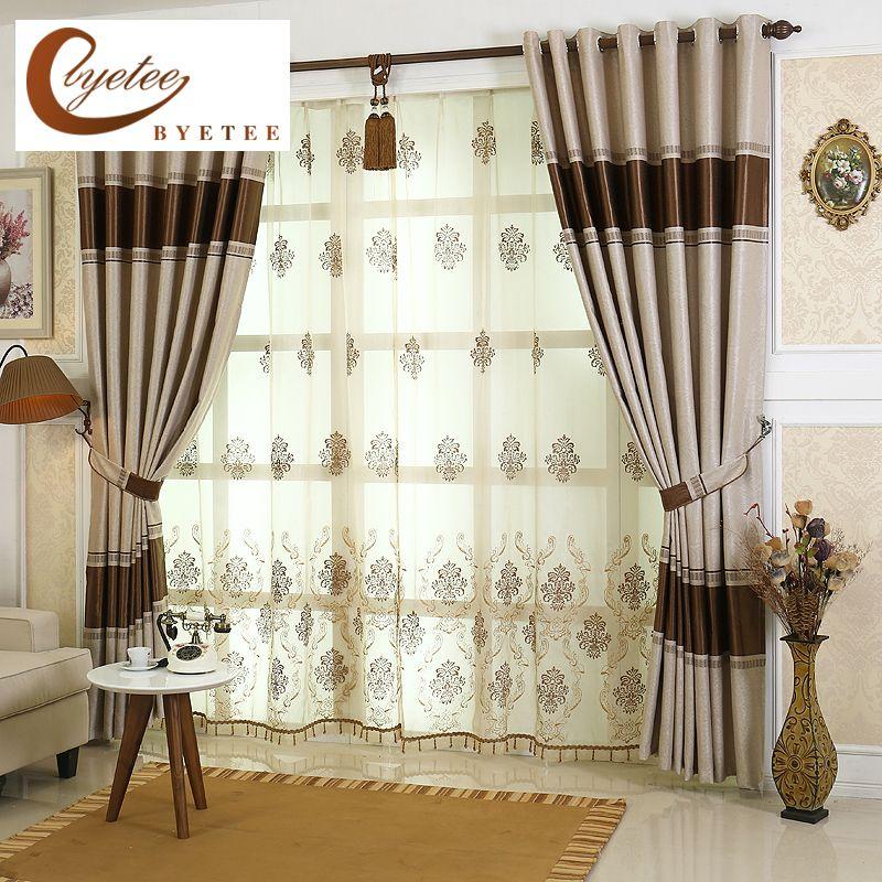 Rayas byetee Cortinas Para la Sala de estar de Lujo de Alta Calidad - ideas de cortinas para sala