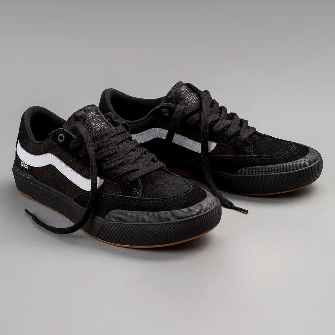 The Vans Berle Pro now available in Black Black White