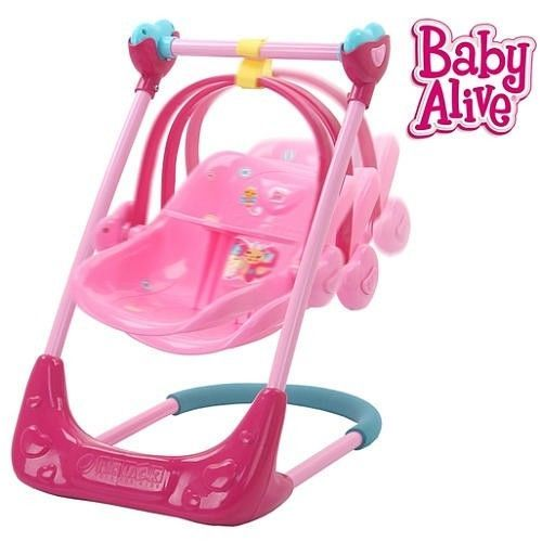 Baby Alive Accecories Playset Swing High Chair Car Seat NEW Convertable Toys Hasbro