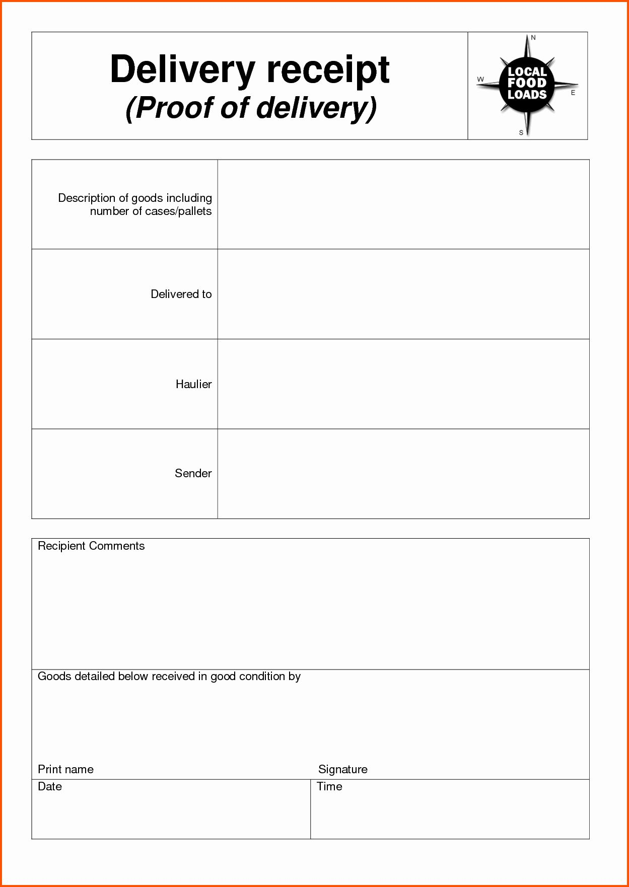 Receipt Of Goods Template New 7 Delivery Receipt Template Ideas Receipt Goods Receipt Template Survey Template Business Template