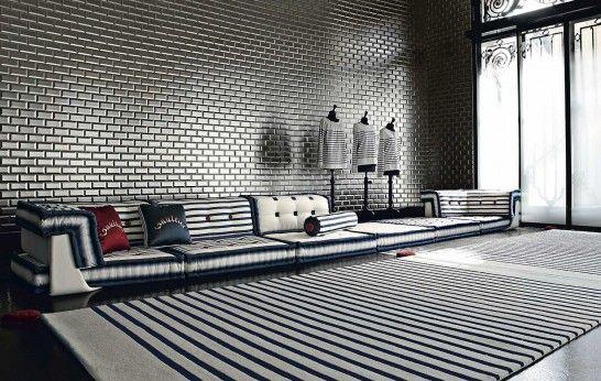 Roche Bobois Jean Paul Gaultier Mah Jong Sofa Living Room