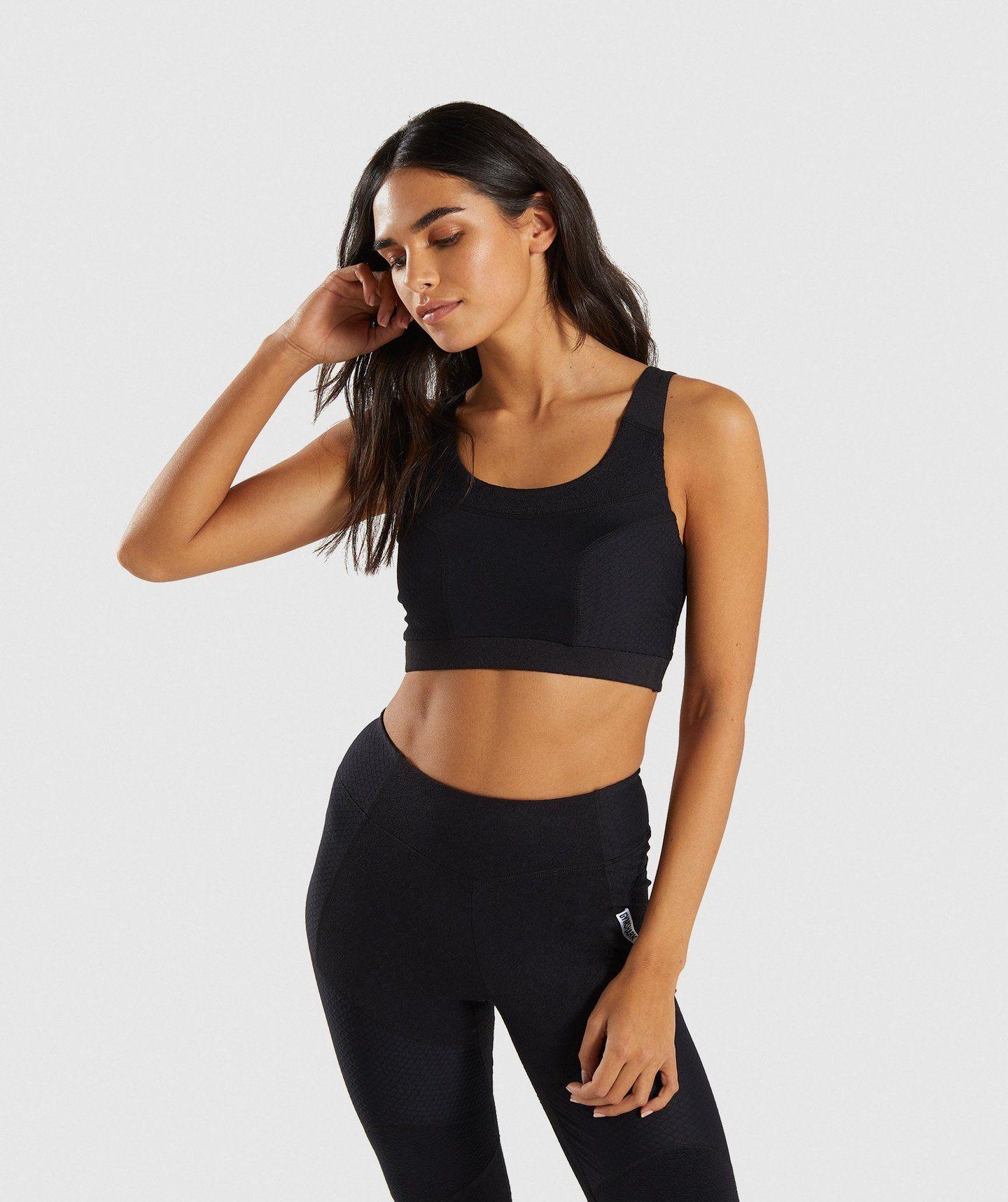 e733bbdd5ed7 Gymshark True Texture Sports Bra - Black in 2019 | Clothing | Sports ...