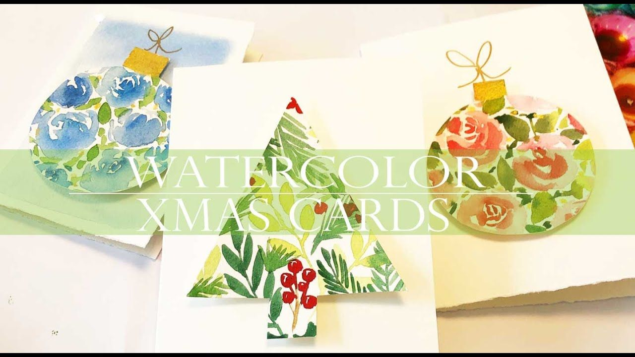 Watercolor Christmas Cards In 3d Easy For Beginners Diy Christmas