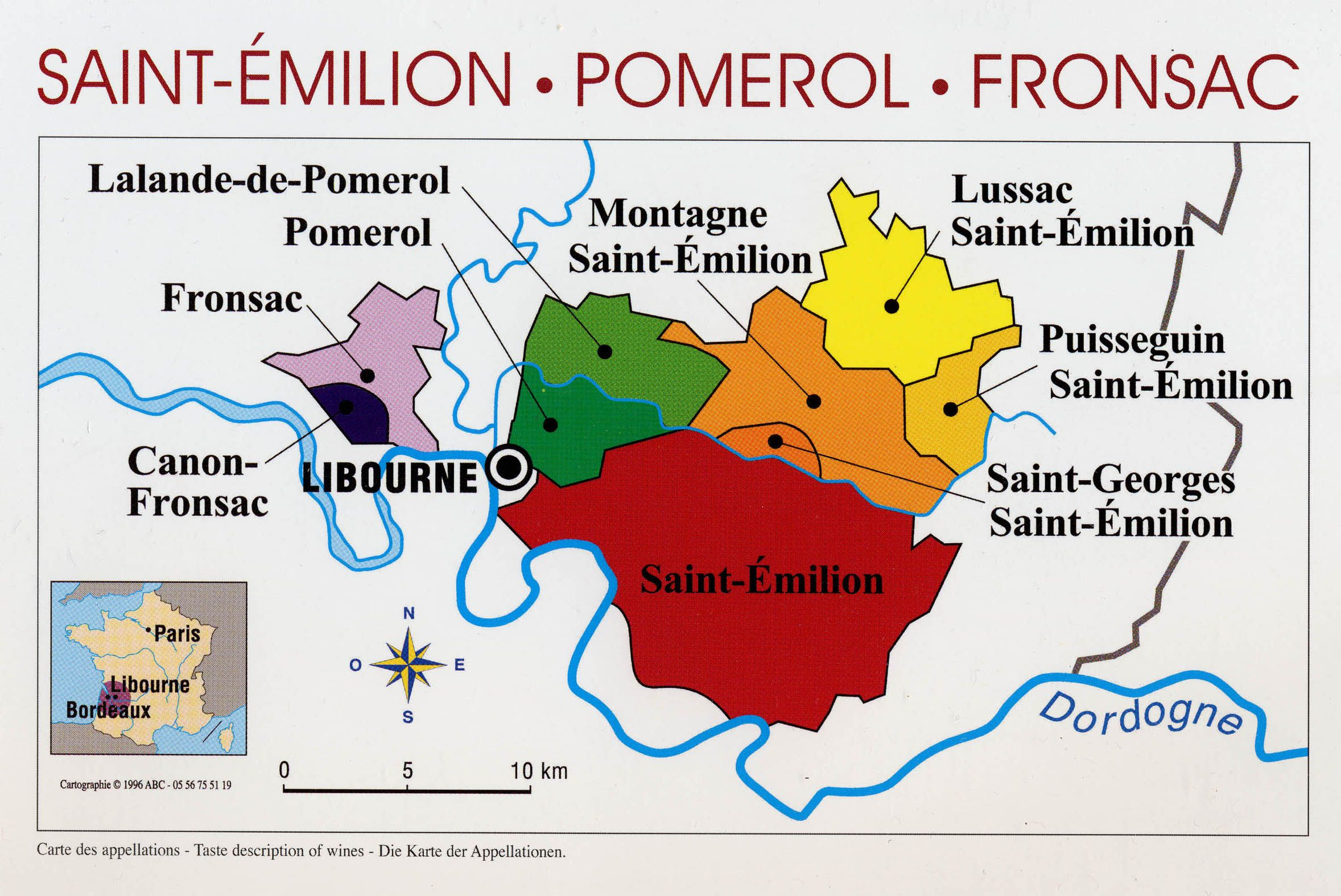 Libournais Region Wine District Map Saint Sulpice De Faleyrens France Wine Regions France Wine Region Map Wine Region