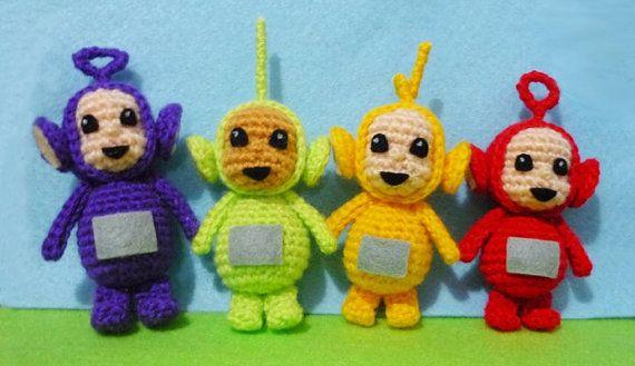 4pcs Crochet Mini teletubbies Amigurumi Finish by DarmianiDesign. My ...