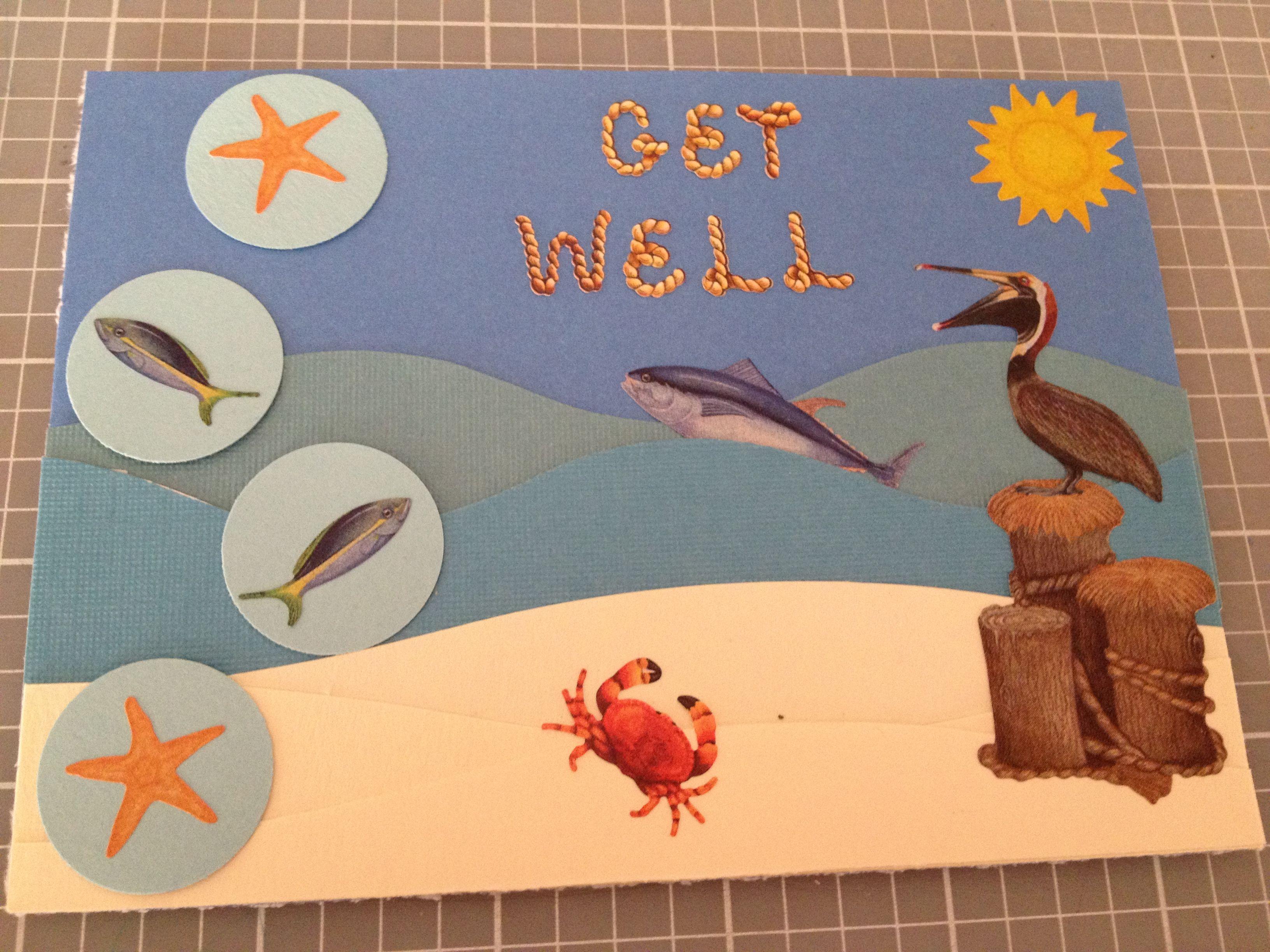 Get Well handmade card by Kjones