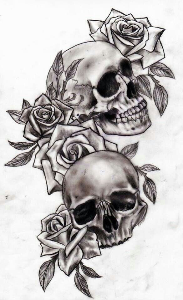 Pin By Alysha Lich On Tattoos Skull Rose Tattoos Tattoos Rose Tattoos