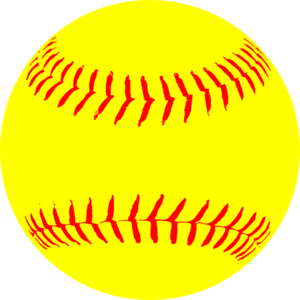 Yellow Softball clip art - vector clip art online, royalty free ...