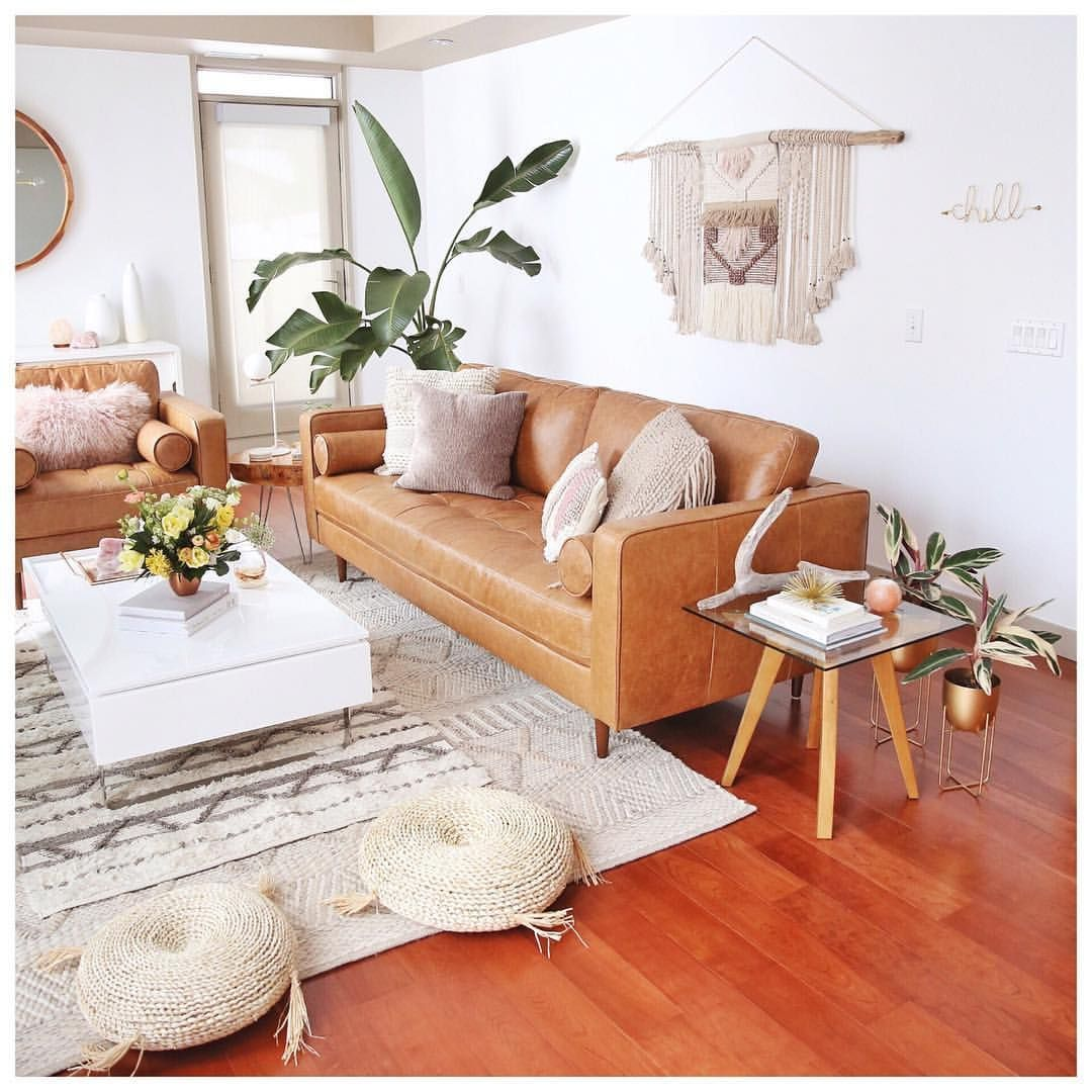 Lighting Is Essential For Any Home Especially When It Comes To Living Room Lighting Leather Sofa Living Room Mid Century Modern Living Room Brown Living Room