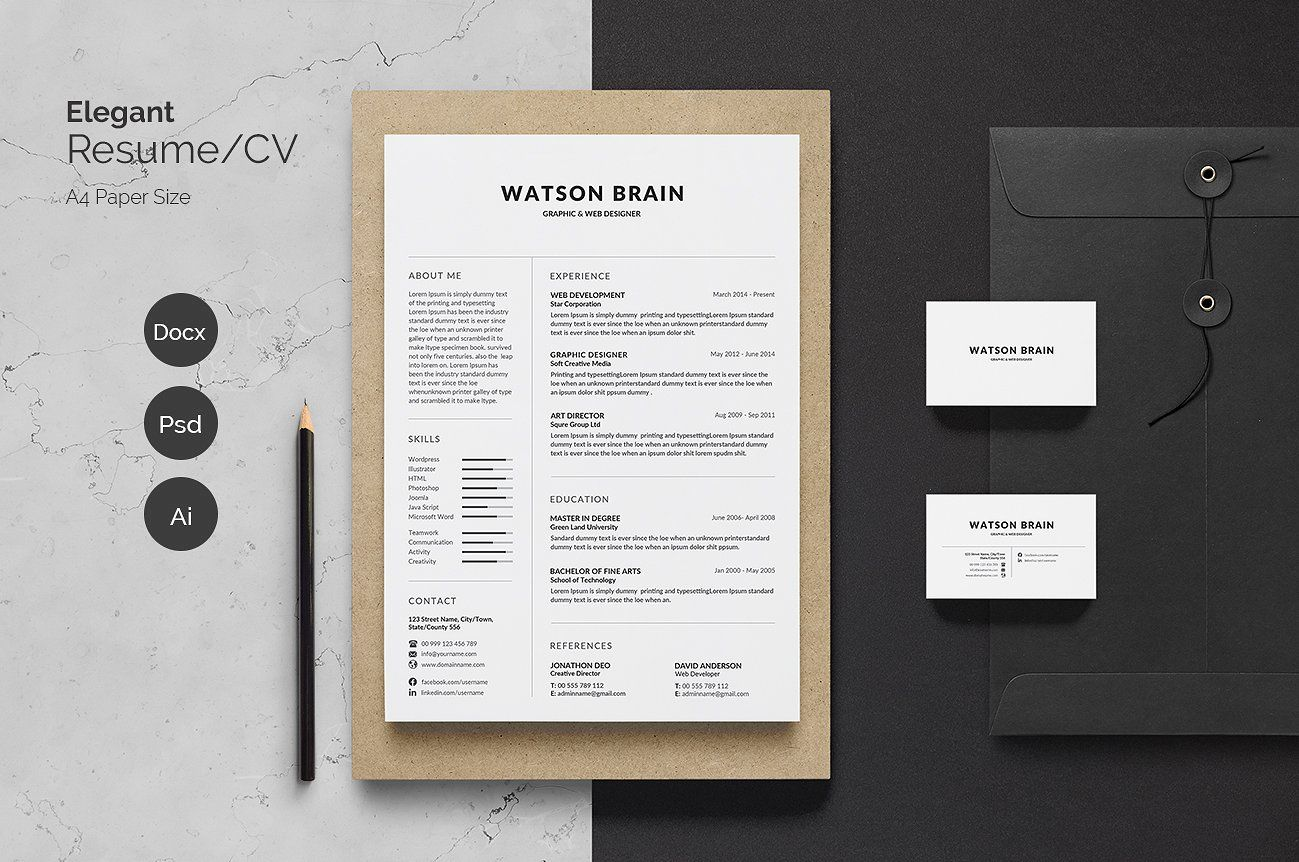 Pin By Fancy Resumes On Resume Templates | Pinterest | Resume Cv