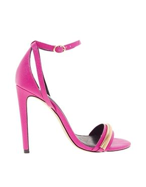 e91023d92bc River Island Pink Chain Barely There Sandal