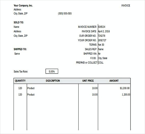 General Invoice templates , Downloadable Invoice Template , How to - auto repair invoice template