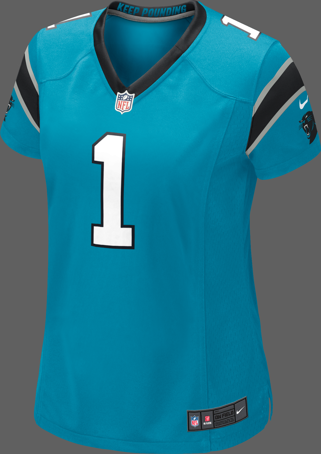 Women s Nike Carolina Panthers Jersey - Blue - Newton  f0efa4a48