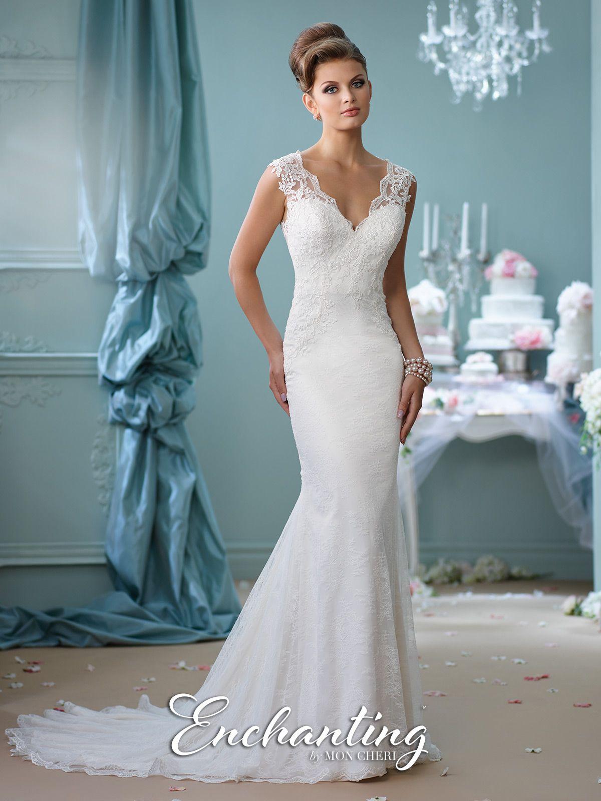 Illusion Back Wedding Dress- 116132- Enchanting by Mon Cheri ...