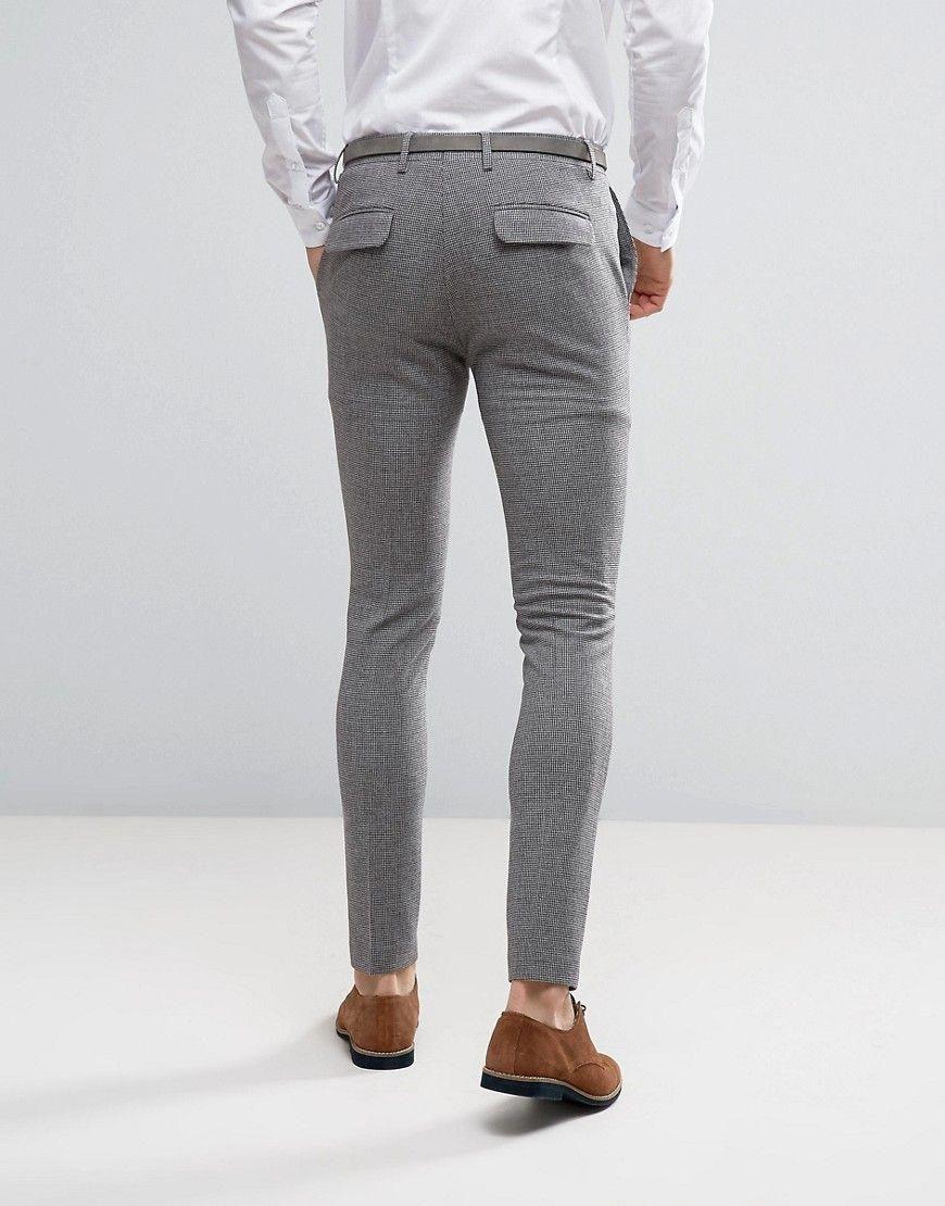 men's slim fit grey dress pants
