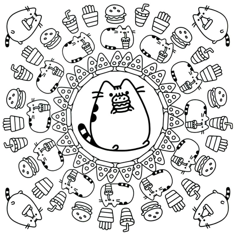 Pusheen Cute Coloring Pages Pusheen Coloring Pages Cat Coloring Page